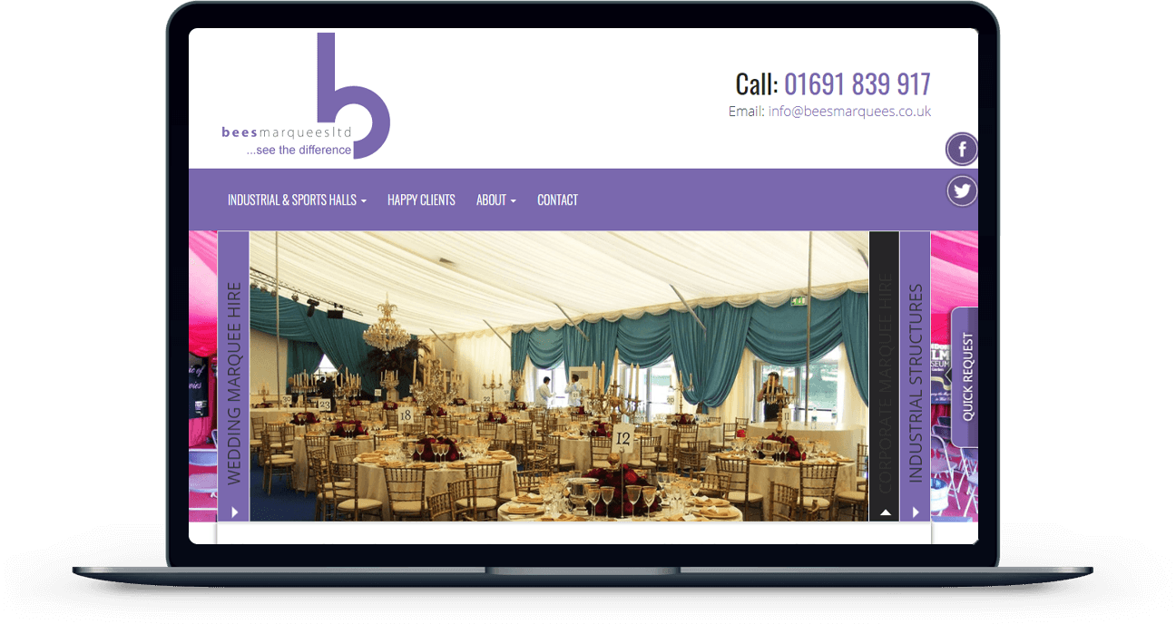 Marketing for Bees Wedding Marquees