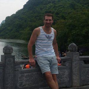 Damon Simpson in Ninh Bin Vietnam